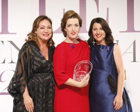 Women of the Year founder Norah Casey, Cervical Check campaigner Vicky Phelan and Editor of Irish Tatler Shauna O\'Halloran
