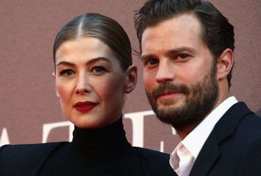 Rosamund Pike and Jamie Dornan at A Private War premiere