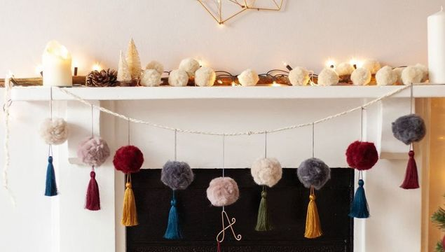 Pompom decorations by Lauren Aston
