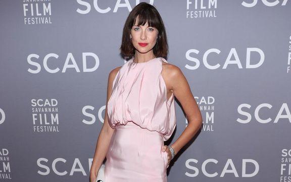 Caitriona Balfe attends the 21st SCAD Savannah Film Festival Red Carpet for \'Outlander\' Season Four on October 28, 2018, in Savannah, Georgia.
