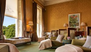 The stunning relaxation room overlooking St Stephen\'s Green