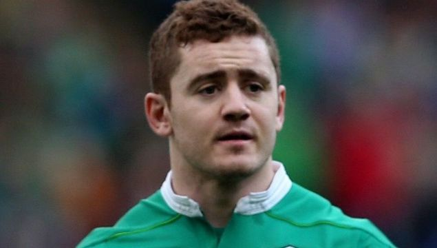 Paddy Jackson playing for Ireland during the 2017 TBS Six Nations campaign.