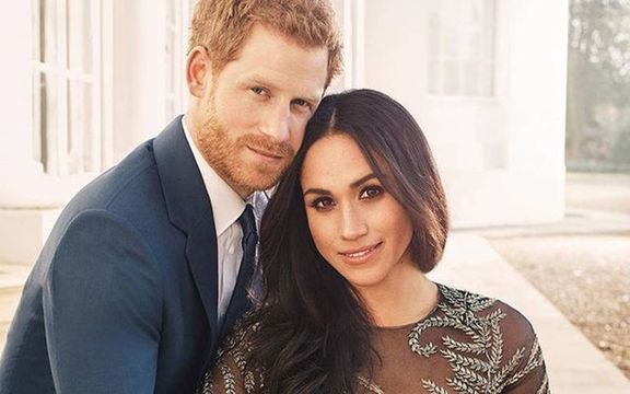 Meghan Markle\'s engagement photo, in which she wore Ralph & Russo