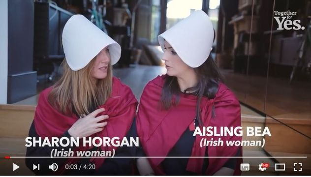 Aisling Bea and Sharon Horgan host the hilarious Irish comedians for Yes video