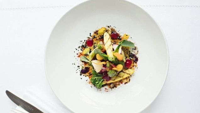 One of the dishes on the new vegan menu at Monart