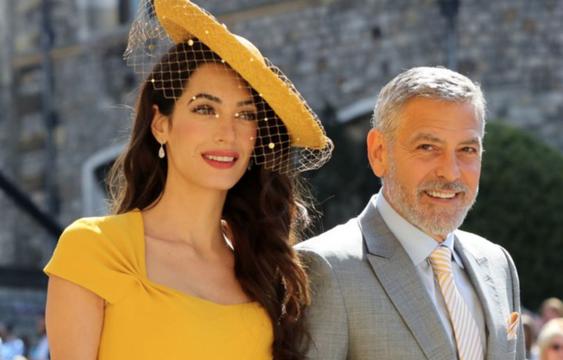 Amal Clooney and husband George at the Royal Wedding