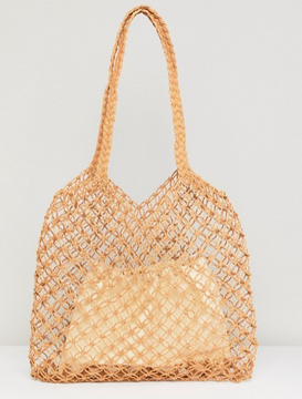 Woven bag by Warehouse
