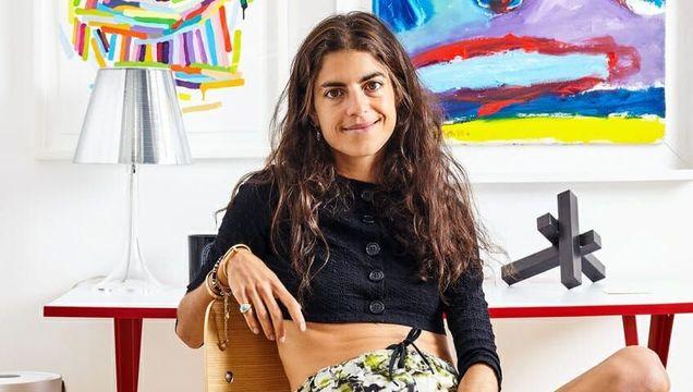 Leandra Medine of fashion website The Man Repeller in her Soho home.