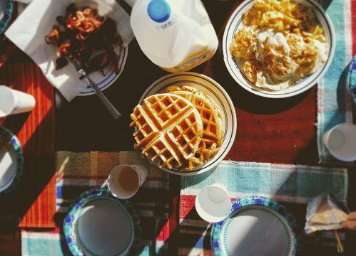 Butternut squash waffles by Rachel Khoo