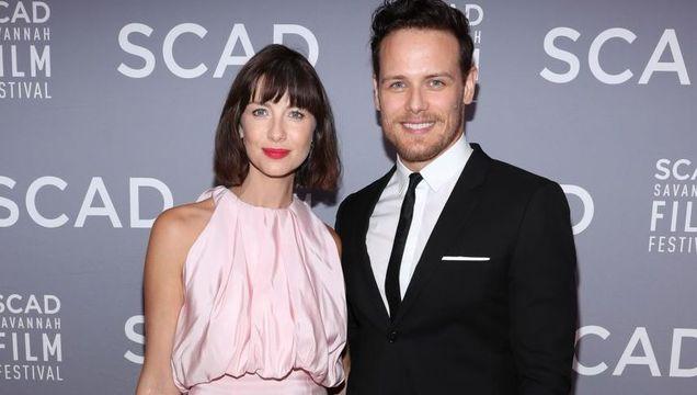 Caitriona and on-screen husband Sam Heughan