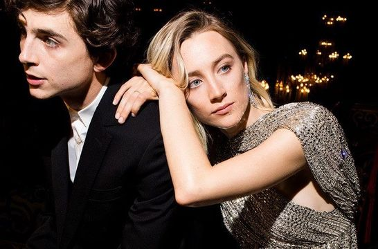 The 25th Hollywood Issue cover from Vanity Fair, pictured actors Timothée Chalamet and Saoirse Ronan.