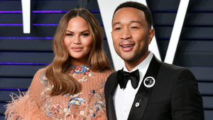 Chrissy and husband John Legend at the 2019 Vanity Fair Oscars party