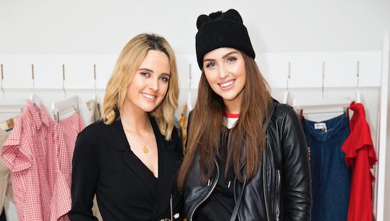 Lorna Duffy and Tara O\'Farrell at the Zalando ss19 showcase