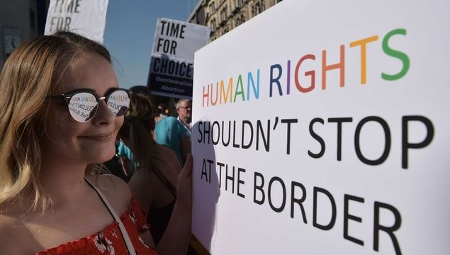 Reproductive rights for Northern Irish women is a focus