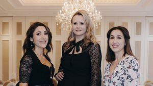 Karen Scanlan, Asta Lee, and Cecile Lee Coveney at the TC Collection by Tipperary Crystal in Adare Manor