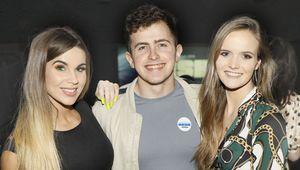Hannah May Jane, Ryan Oakes and Kara O\'Leary at Huawei Sesh