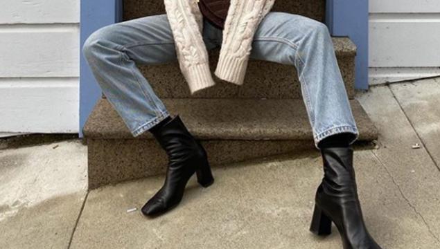 best black heeled booties