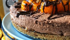 Thumb chocolate and zesty orange cheesecake