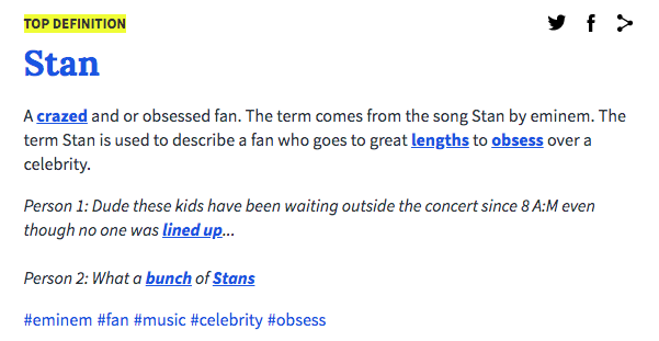 I Know I M Late But What Does Stan Mean